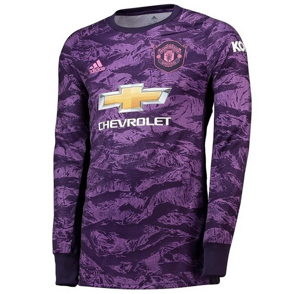 Camiseta Manchester United ML Portero 2019/2020 Purpura
